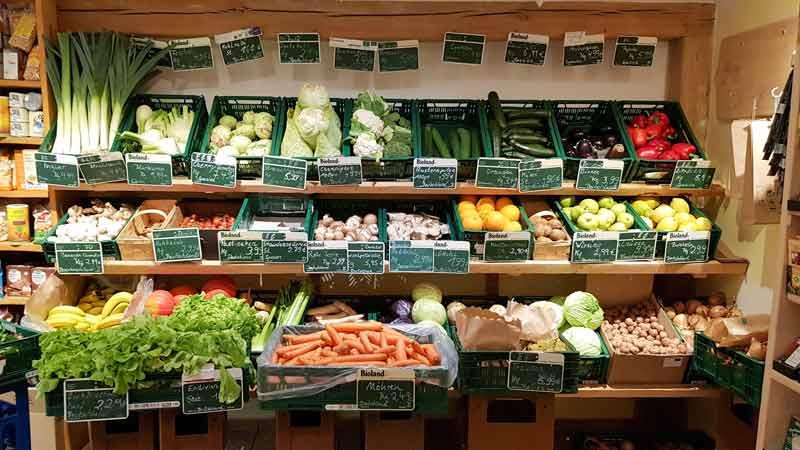 Obst und Gemüse im Hofladen Deventer in Rinkerode